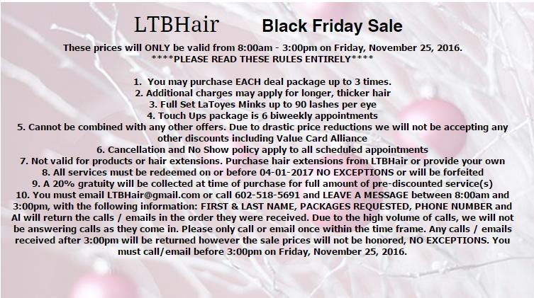 LTBHair Black Friday