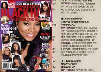 black hair magazine salon feature hair extensions phoenix