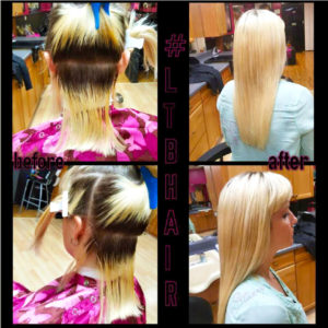 Hair Extensions Before and After Photo Phoenix