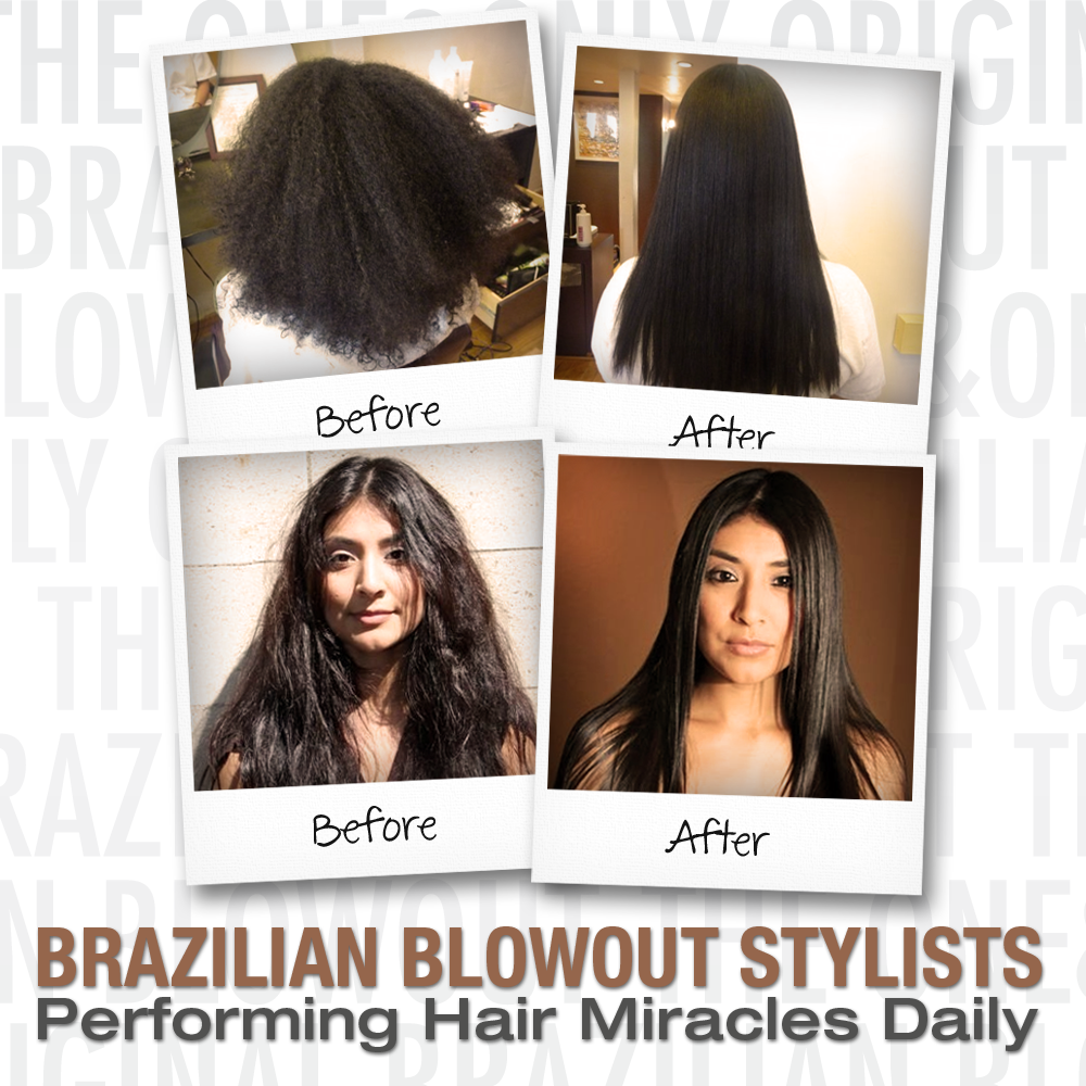 before and after photo brazilian blowout phoenix