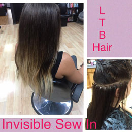 Sew-in-invisible-braidless-hairextensions