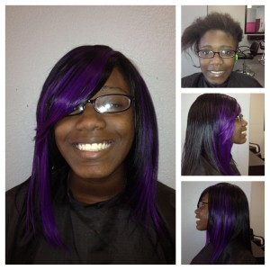 Black & Purple Hair Extensions