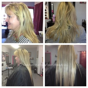 Blond Hair Extensions Before And After