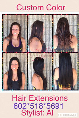 Custom Color & Hair Extensions