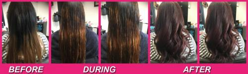 Before & After Hair Color Correction